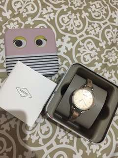 fossil watch - cream