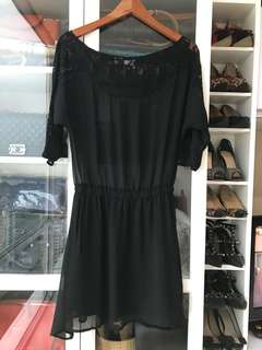 MDS Lace Black Dress