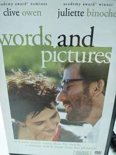 Words and pictures movie DVD