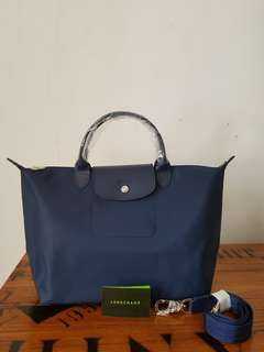Authentic longchamp le pliage neo navy medium