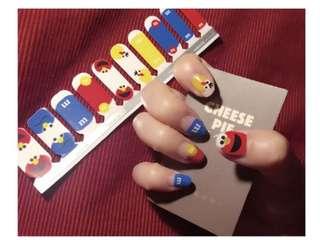 PO - Sesame Street m&m nail stickers