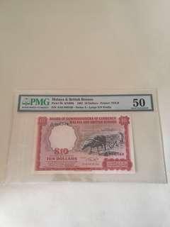 ( Fast deal) Malaya & British Borneo $10 With Big A