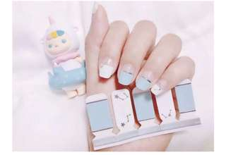 PO - pastel sky nail stickers