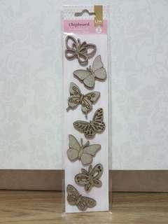 UW Scrapbooking Chipboard (Butterflies)