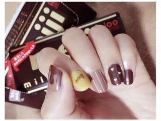 PO - milk chocolate nail stickers