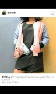 Varsity Jaket Pink