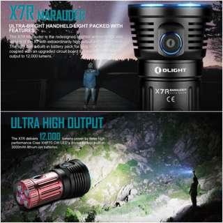 (12,000 Lumens) Olight X7R Marauder Flashlight