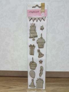 UW Scrapbooking Chipboard (Birthday)