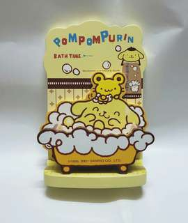 2001年 sanrio pompompurin wooden  bookend 布甸狗 木製 書立 擺設兜