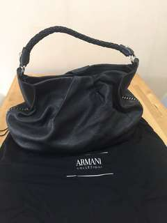 Armani collezioni real leather tote bag