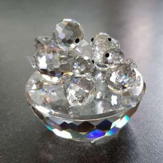 100 Swarovski Silver Crystal - Bird Nest
