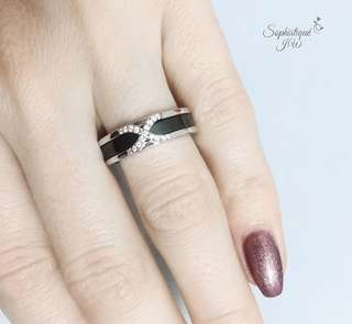 Black ceramic ring! 🔳 s925