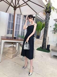 Black Ribbon Dress 蝴蝶结露背连衣裙