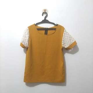 Zip back mustard shirt