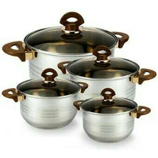 Larosso 12pc Stainless Pots