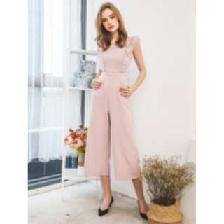 eb0c3652b98b BNWT The Stage Walk - Tanisha Ruffled Jumpsuit in Dusty Pink
