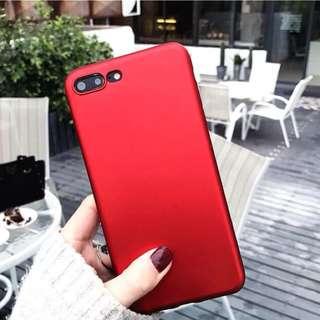 紅色iphone 6splus手機殼