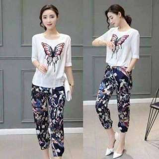 Butterfly Top and Pants Set