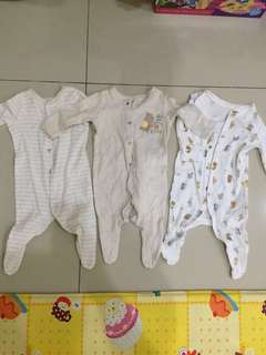 Sleepsuit mothercare set ( 3 pcs )