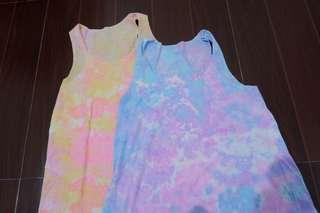 Tie Dyed Sleevelesss Tops