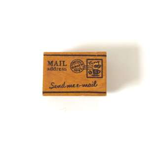 Send me email mail address wood rubber stamp