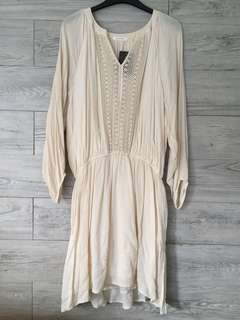 Promod beige boho dress