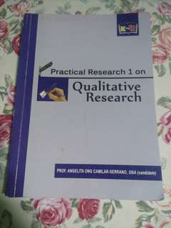 Practical Research 1 SHS Book