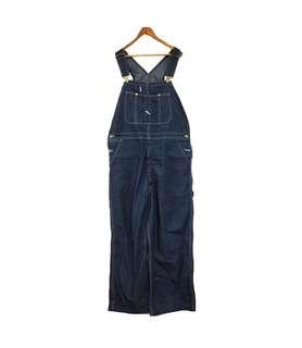 🚚 Vintage Dickies寬鬆牛仔吊帶褲(平量尺寸cm)