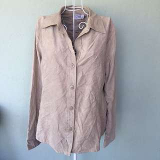 Soft brown blouse