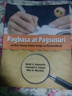 Pagbasa at Pagsusuri SHS BOOK