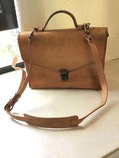 BREE vintage shoulder bag calf leather 斜背包 手袋 工事包