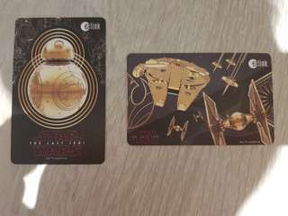 Star wars ezlink card 2 pcs set