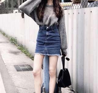 🚚 Cunz彈性深藍牛仔褲裙