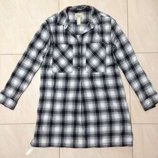 FOREVER21 plaid shirtdress
