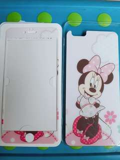 Tempered glass minnie mouse iphone 6 plus