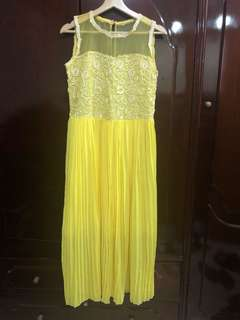Bright yellow formal gown