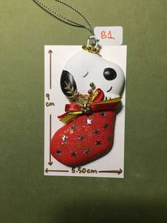 Snoopy Ceramic Christmas Ornament