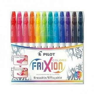 Pilot Frixion Erasable Markers (set of 12)