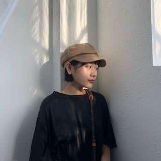VM 百搭 棉麻 學生 清新森林系少女 非常好戴的立體畫家帽 3色