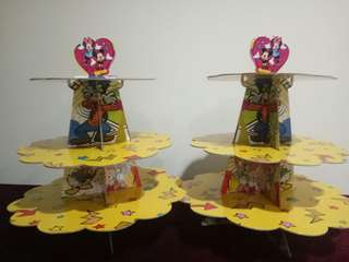 Mickey & Minnie Cardboard Cupcake Stand
