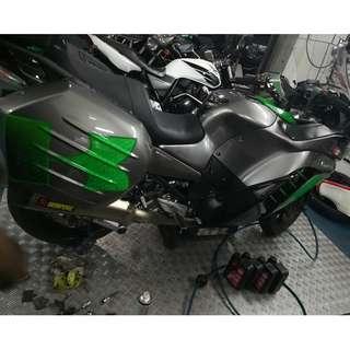 Kawasaki 1400GTR Liqui Moly 10w-50 oil changed