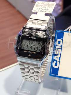 CASIO NATURAL DIAMONDS A159WAD-1 (天然鑽石)