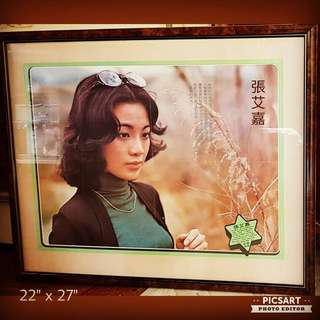 1970s Poster of Zhang Ai Jia, popular TV star of that era. Good Condition. Very Big, do refer to photo for size. Good  Condition. $78 Offer. sms 96337309.