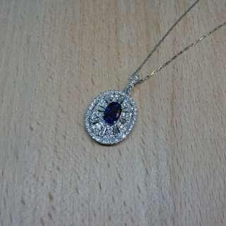18Karat sapphire diamond pendant