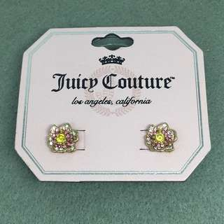 Juicy Couture Sample Earrings 粉紅色閃石花花耳環