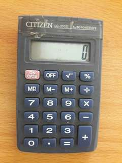 Preloved Kalkulator Mini Abu2