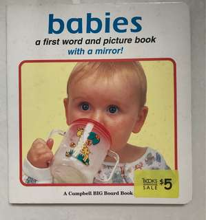Babies first word and picture board book