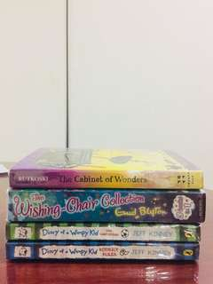 Diary of a Wimpy Kid,Cabinet of Wonders and Enid Blyton