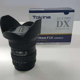 Tokina 11-16mm 2.8 canon