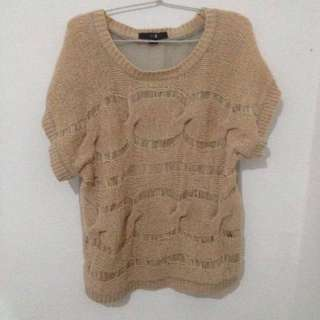 brown knit sweater top forever 21
